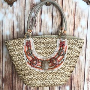 Sun N Sand Straw Shoulder Bag